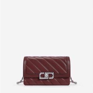 Veggie Meals - Lottie Chain Crossbody Bag - Oxblood Red