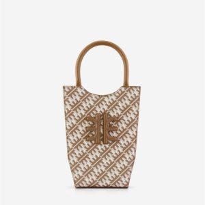Veggie Meals - FEI Mini Tote Bag - Brown - Fashion Women Vegan Bag