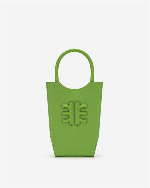 Veggie Meals - FEI Mini Tote Bag - Kiwi - Fashion Women Vegan Bag