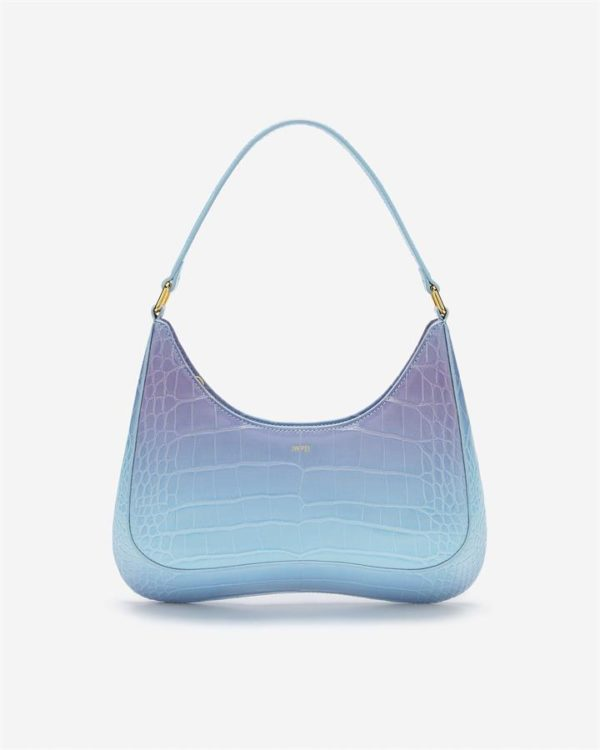 Veggie Meals - Ruby Shoulder Bag Gradient - Blue & Purple Croc - Fashion Women Vegan Bag